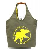HUNTING WORLD(ハンティングワールド)の古着「リバーシブルトートバッグ」|カーキ×イエロー