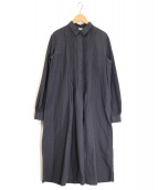 ASPESI(アスペジ)の古着「ピンタックシャツワンピース」|グレー
