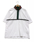 sacai(サカイ)の古着「Madras Check Pullover」|ホワイト×グリーン