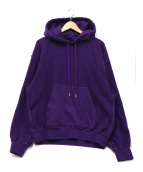 Name.(ネイム)の古着「INSIDE OUT HOODED SWEATER」|パープル