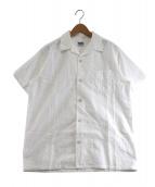 PHERROWS(フェローズ)の古着「ジャガードオープンカラーシャツ」|ホワイト