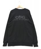 CDG(コムデギャルソン)の古着「バックプリントスウェット」 ブラック