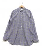 GUY ROVER(ギローバ)の古着「ボタンダウンシャツ」|ブルー×イエロー