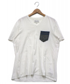 Martin Margiela 10(マルタンマルジェラ10)の古着「VネックTシャツ」|ブラウン