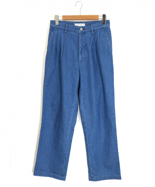 universal products(ユニバーサルプロダクツ)UNIVERSAL PRODUCTS (ユニバーサルプロダクツ) 2 TUCK WIDE DENIM PANTS サイズ:1の古着・服飾アイテム