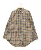 Burberrys(バーバリーズ)の古着「ボタンダウンノヴァチェックシャツ」|ベージュ