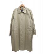 Burberrys(バーバリーズ)の古着「ヴィンテージ比翼ステンカラーコート」 ベージュ