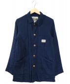 PHERROWS(フェローズ)の古着「リネンショップコート」|ネイビー