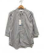 PHERROWS(フェローズ)の古着「7分袖シャツ」|ブルー×ホワイト