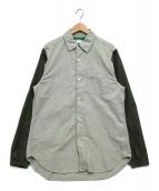 GANRYU(ガンリュウ)の古着「ナイロンオックスシャツ」 グリーン