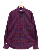 Errico Formicola(エリコフォルミコラ)の古着「チェックシャツ」|レッド×ネイビー