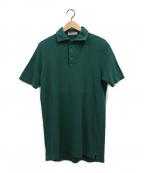 Cruciani(クルチアーニ)の古着「鹿の子ポロシャツ」|グリーン