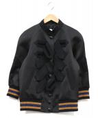 COACH(コーチ)の古着「バーシティデザインブルゾン」|ブラック