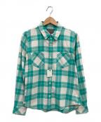 R.H.Vintage(ロンハーマン・ヴィンテージ)の古着「ネップ加工チェックシャツ」 グリーン×ホワイト