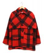 FILSON GARMENT(フィルソンガーメント)の古着「ダブルマッキーノクルーザー」|レッド×ブラック