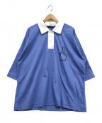 MILK BOY(ミルクボーイ)の古着「サインラガーシャツ」 ブルー