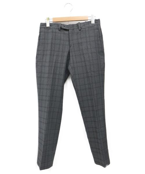 NEIL BARRETT(ニールバレット)NEIL BARRETT (ニールバレット) グレンチェックスラックス グレー サイズ:44の古着・服飾アイテム