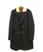 CARVEN(カルヴェン)の古着「襟ボアダブルコート」 ブラウン