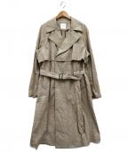 UNITED TOKYO(ユナイテッドトウキョウ)の古着「ブラウンチェックアルスターコート」|ブラウン