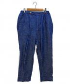 HAVERSACK(ハバーサック)の古着「ツータックリネンパンツ」 ブルー