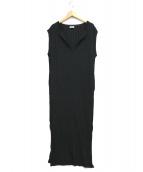 toteme(トーテム)の古着「ロングスリットリブニットワンピース」|ブラック