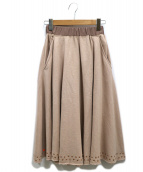 DIESEL(ディーゼル)の古着「スタッズスウェットスカート」|ピンク