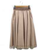DIESEL()の古着「スタッズスウェットスカート」|ピンク