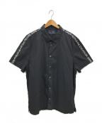 Calvin Klein Jeans(カルバンクラインジーンズ)の古着「ラインロゴワイドシャツ」 ブラック