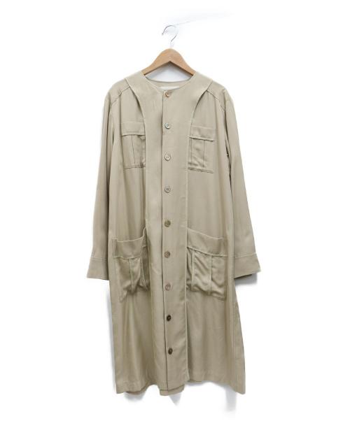 ZUCCA(ズッカ)ZUCCA (ズッカ) テンセルツイルワンピース ベージュ サイズ:Mの古着・服飾アイテム