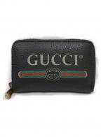 GUCCI()の古着「グッチプリントカード&コインケース」|ブラック