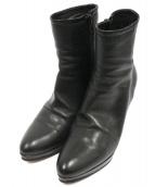 PELLICO(ペリーコ)の古着「サイドジップショートブーツ」|ブラック