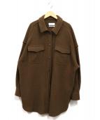 Mila Owen(ミラオーウェン)の古着「圧縮ジャージビッグカバーオール」|ブラウン