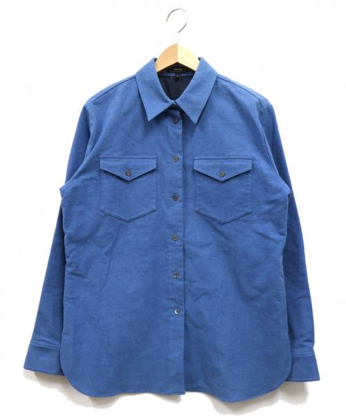 theory(セオリー)theory (セオリー) Moleskin Twill PCKT Mens SH B ブルー サイズ:Sの古着・服飾アイテム