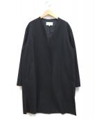 自由区(ジユウク)の古着「シルキーメルトンライトコート」|ネイビー
