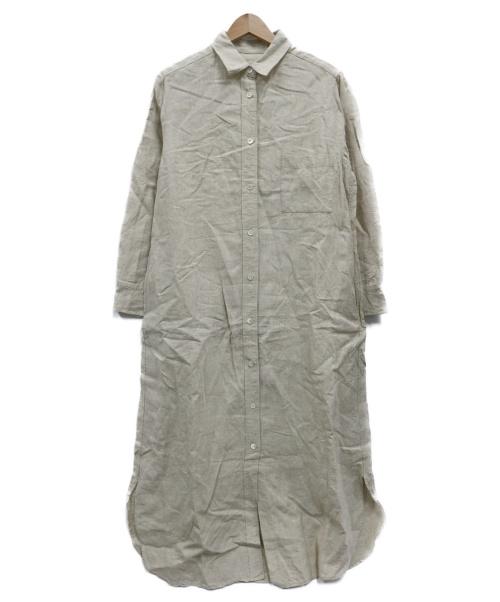 Plage(プラージュ)Plage (プラージュ) リネンシャツワンピース ベージュ サイズ:不明の古着・服飾アイテム