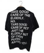 CDG JUNYA WATANABE MAN(コムデギャルソン ジュンヤワタナベマン)の古着「メッセージプリントシャツ」 ブラック