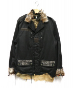 GILET(ジレ)の古着「再構築ミリタリージャケット」|グレー