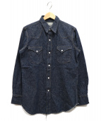 WAREHOUSE(ウエアハウス)の古着「デニムウェスタンシャツ」|インディゴ