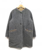 HUMAN WOMAN(ヒューマンウーマン)の古着「モコファーリバーシブルコート」|グレー