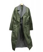 TOGA VIRILIS(トーガ ヴィリリース)の古着「ドッキングチェスターコート」 グレー