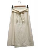 DRESSTERIOR(ドレステリア)の古着「フラノストレッチラップ風スカート」|ホワイト