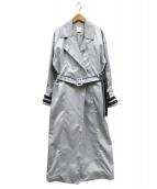 Ameri VINTAGE(アメリヴィンテージ)の古着「INVERTシームトレンチコート」|グレー
