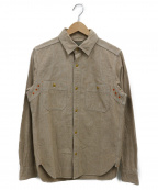 NIGEL CABOURN(ナイジェルケーボン)の古着「メディカルシャツ」 ベージュ