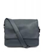 土屋鞄(ツチヤカバン)の古着「防水フラップファスナーショルダーバッグ」|ネイビー