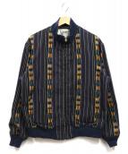 TENDERLOIN(テンダーロイン)の古着「ネイティブ柄ブルゾン」|ネイビー