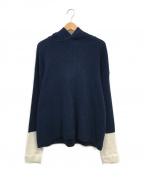 crepuscule(クレプスキュール)の古着「Knit-Parka」|ネイビー