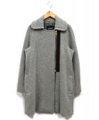 MAX&Co.(マックスアンドコー)の古着「ジップロングコート」|グレー
