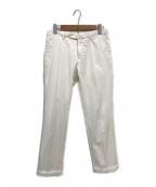 INCOTEX(インコテックス)の古着「センタープレスパンツ」|ホワイト