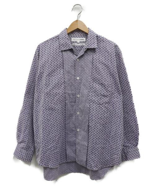 COMME des GARCONS SHIRT(コムデギャルソンシャツ)COMME des GARCONS SHIRT (コムデギャルソンシャツ) オープンカラーシャツ パープル サイズ:S 90年代の古着・服飾アイテム