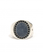 TOM WOOD()の古着「Black Spinel Circle Ring」|シルバー